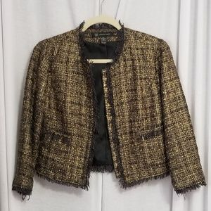 INC jacket tweed like 3/4 sleeve jacket  - Small